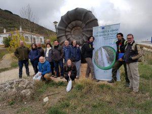 Grupo con el ammonite