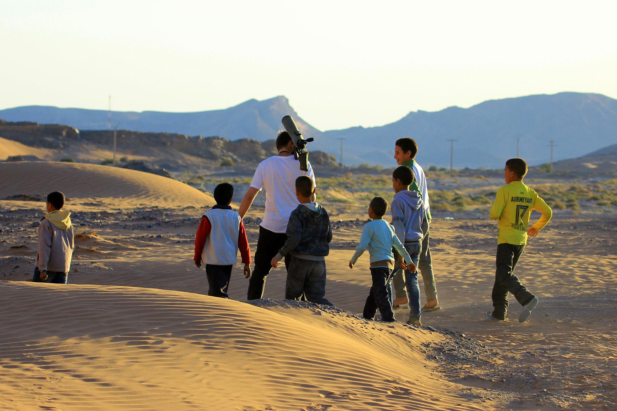 Educación ambiental en pleno desierto